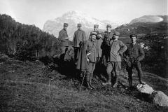 Foto storica Ufficiali-italiani M.te Staulizze (Marco Pascoli)