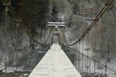 18 – Semonella Maria Giuseppina, San Giorgio: Il ponte di Tigo , dopo una nevicata